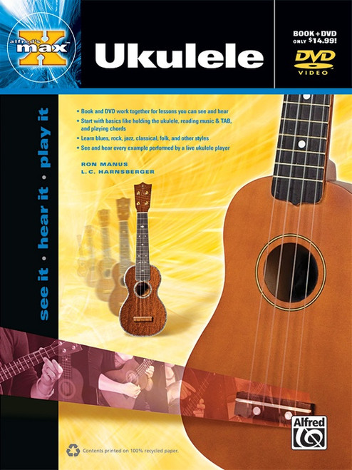 Alfred's Max Ukulele (Book/DVD Set) by Ron Manus & L.C. Harnsberger