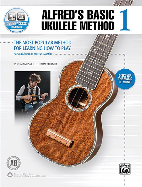 Alfred's Basic Ukulele Method, Book 1 (with Online Audio Access) by Ron Manus & L.C. Harnsberger