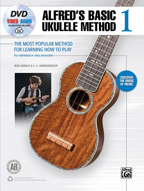 Alfred's Basic Ukulele Method, Book 1 (Book/DVD/Online Audio Access Set) by Ron Manus & L.C. Harnsberger