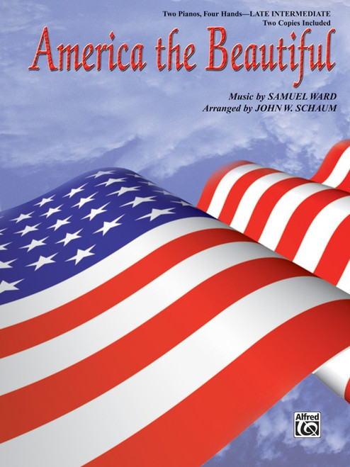 America the Beautiful - Late Intermediate Piano Duet - Two Pianos Four Hands