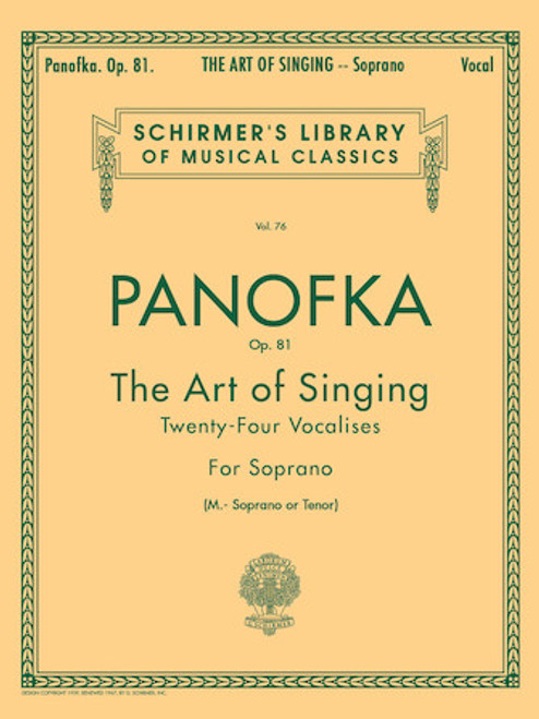 Panofka - The Art of Singing - Twenty-four Vocalises - for Soprano