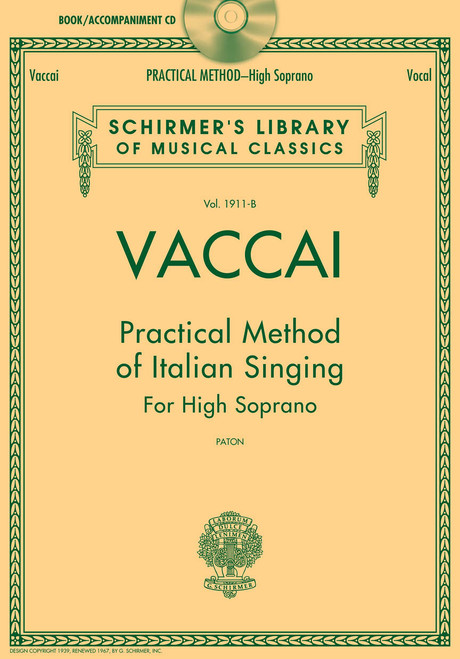 Vaccai - Practical Method of Italian Singing for High Soprano (Paton) w/Audio