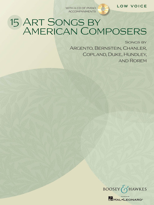 15 Art Songs by American Composers for Low Voice w/Audio Accompaniment