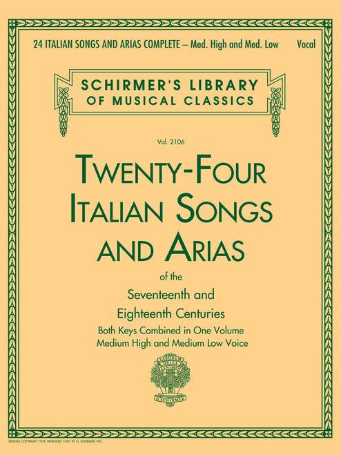 CLOSER LOOK 24 ITALIAN SONGS & ARIAS COMPLETE Medium High and Medium Low Voice
