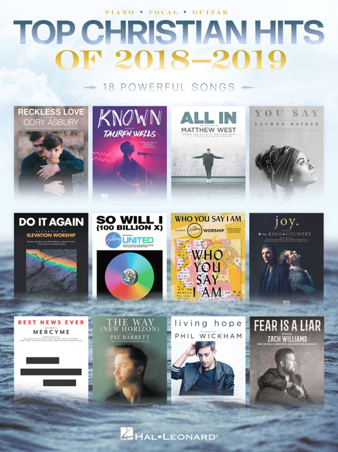 Top Christian Hits of 2018-2019 for Piano/Vocal/Guitar
