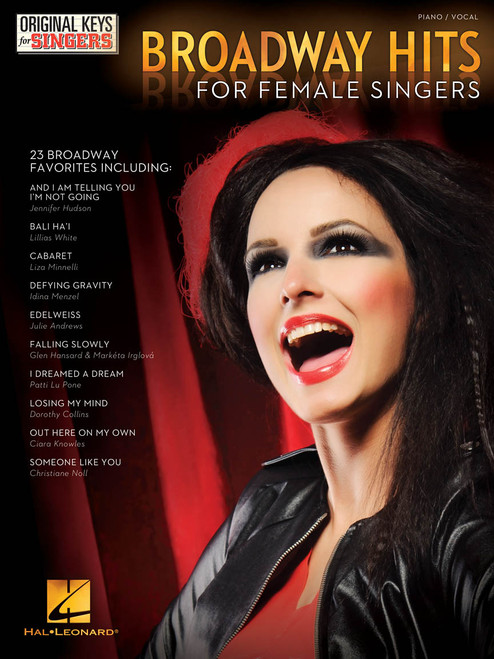 Broadway Hits for Female Singers - Piano/Vocal Songbook (Original Keys for Singers)