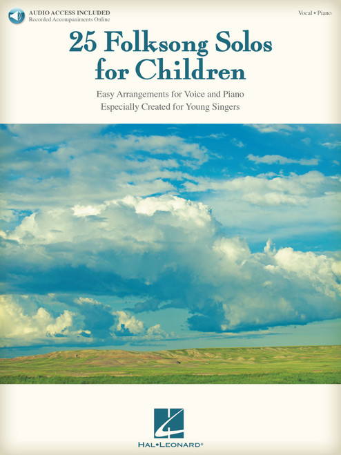 25 Folksong Solos for Children w/Audio Access - Piano/Vocal