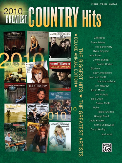 2010 Greatest Country Hits - Piano/Vocal/Guitar