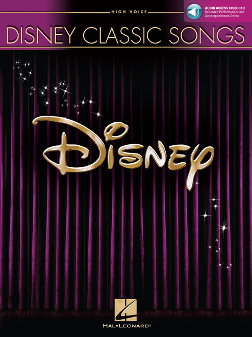 Disney Classic Songs for High Voice w/Audio Access - Piano/Vocal/Chords