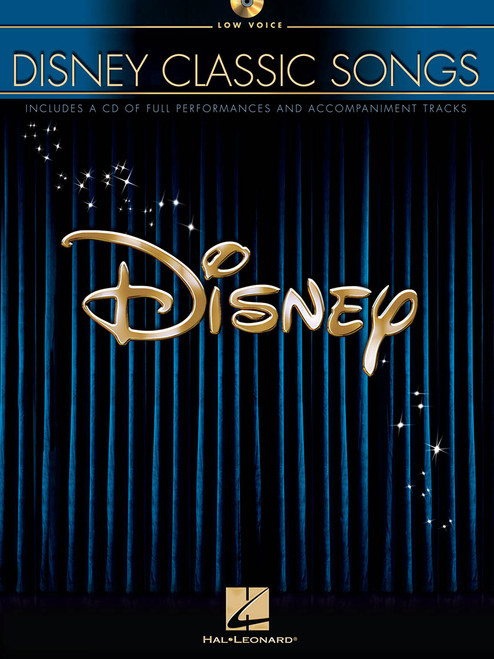 Disney Classic Songs for Low Voice w/Audio Access - Piano/Vocal/Chords