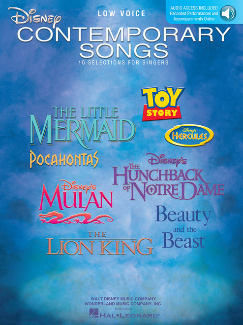Disney Contemporary Songs (Low Voice) w/Audio Access - Piano/Vocal/Chords