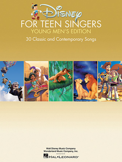 Disney for Teen Singers Young Men's Edition (30 Classic and Contemporary Songs) - Piano/Vocal/Chords