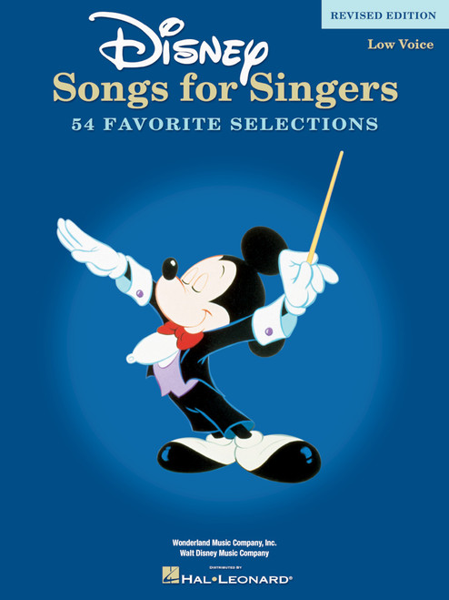 Disney Songs for Singers (Low Voice) - Revised Edition