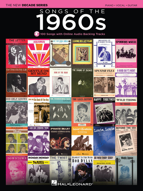 Songs of the 1960s for Piano/Vocal/Guitar