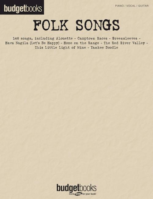 Folk Songs (Budget Books) - Piano / Vocal / Guitar