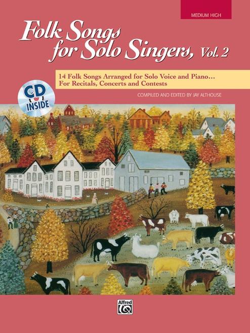 Folk Songs for Solo Singers, Vol 2 (Medium High Voice) w/CD