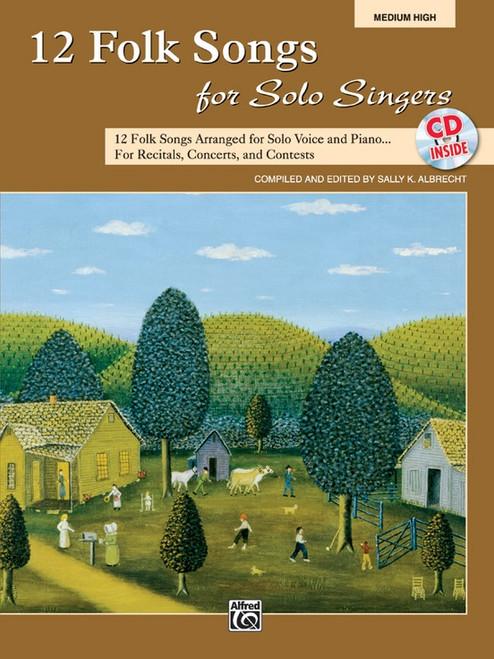 12 Folk Songs for Solo Singers (Medium High) w/CD