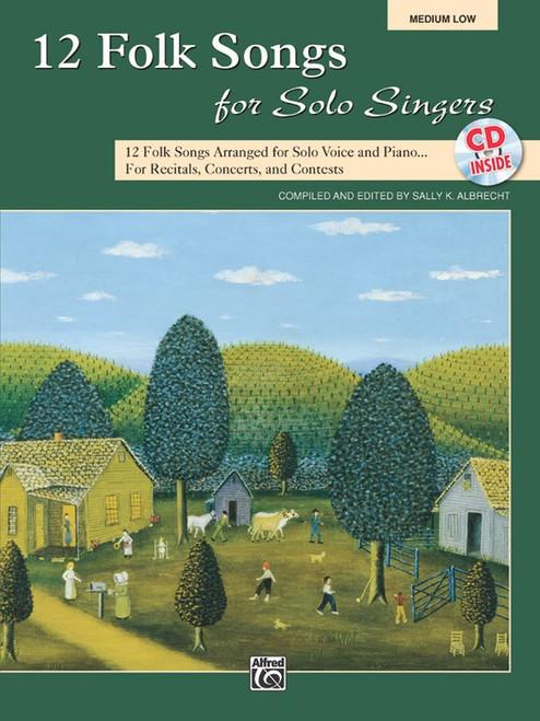 12 Folk Songs for Solo Singers (Medium Low) w/CD