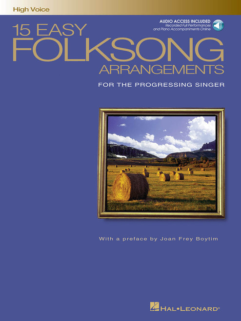 15 Easy Folksong Arrangements (High Voice) - w/Audio Access