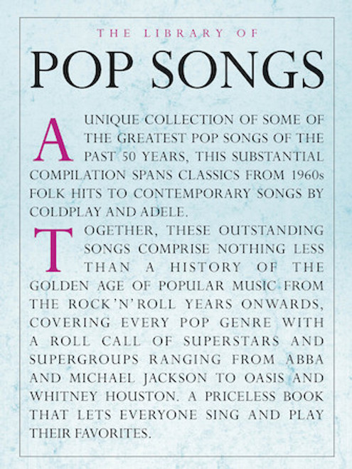 Library of Pop Songs - Piano / Vocal / Guitar