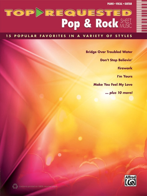 Top Requested Pop & Rock Sheet Music - Piano / Vocal / Guitar
