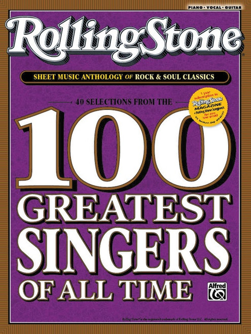 Rolling Stone 100 Greatest Singers of All Time - Piano / Vocal / Guitar