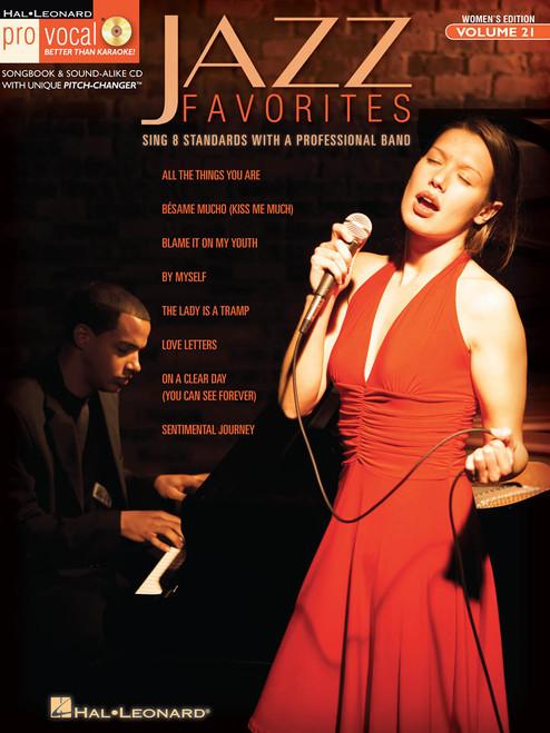 Jazz Favorites - Pro Vocal Vol 21 Women's Edition