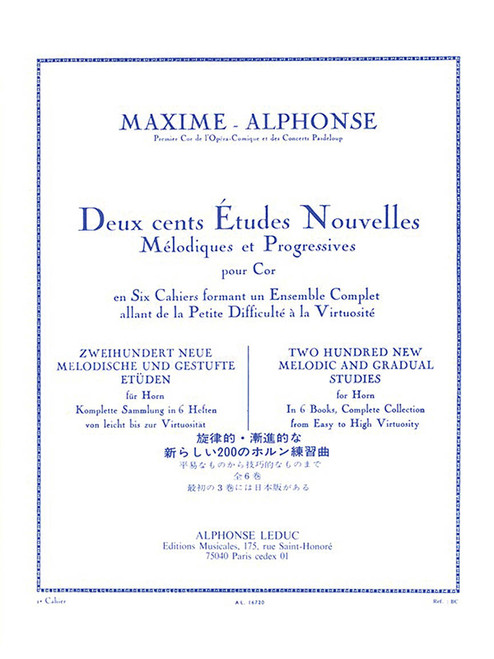 200 New Melodic & Gradual Studies for Horn by Maxime-Alphonse