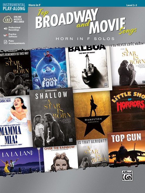 Top Broadway & Movie Songs (Level 2-3) for Horn in F (Book & Audio Access)