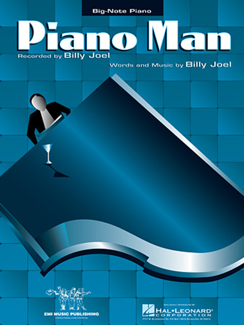 Piano Man by Billy Joel for Big-Note Piano Solo