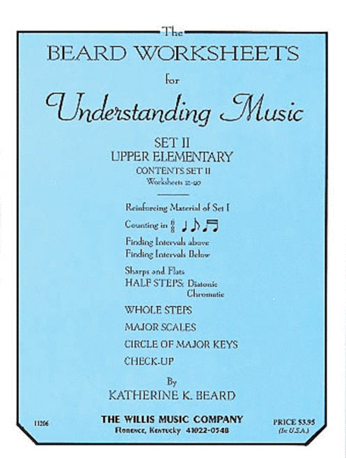 The Beard Worksheets for Understanding Music - Set II Upper Elementary