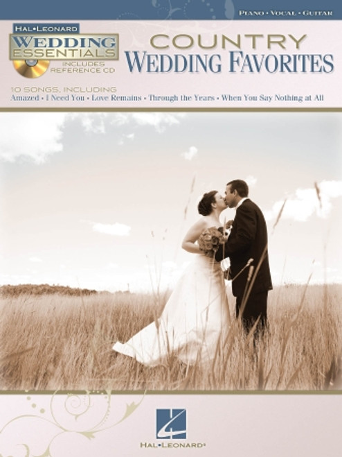Country Wedding Favorites (Hal Leonard Wedding Essentials w/CD) - Piano / Vocal / Guitar