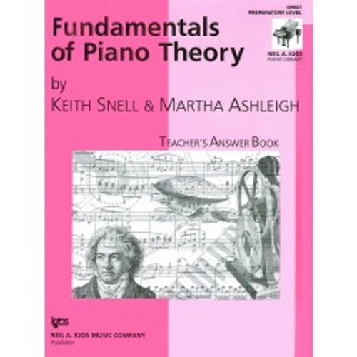 Fundamentals of Piano Theory by Keith Snell - Teacher's Answer Book Preparatory Level