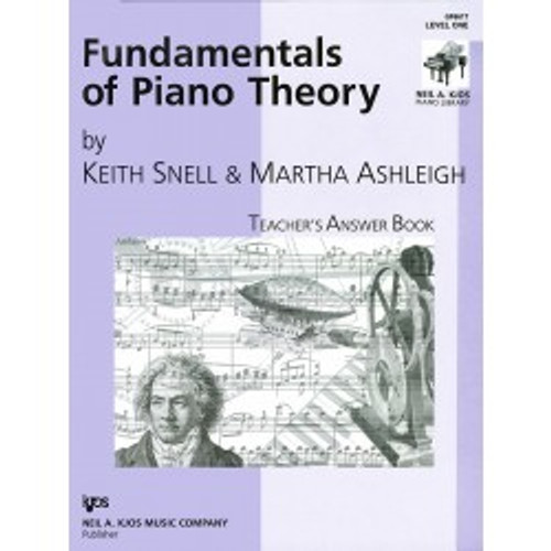 Fundamentals of Piano Theory by Keith Snell - Teacher's Answer Book Level One