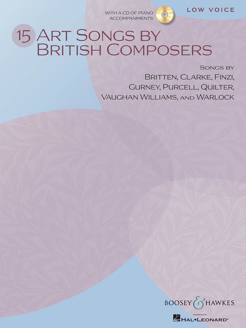 15 Art Songs by British Composers for Low Voice ( with CD )