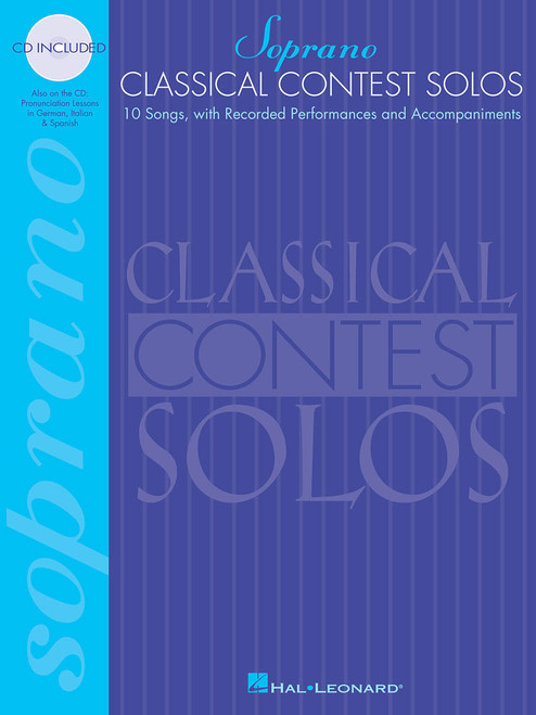 Classical Contest Solos for Soprano (10 Songs with Recorded Performances and Accompaniments) - Book / Online Audio Access