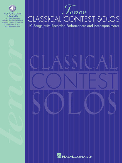 Classical Contest Solos for Tenor (10 Songs with Recorded Performances and Accompaniments) - Book / Online Audio Access