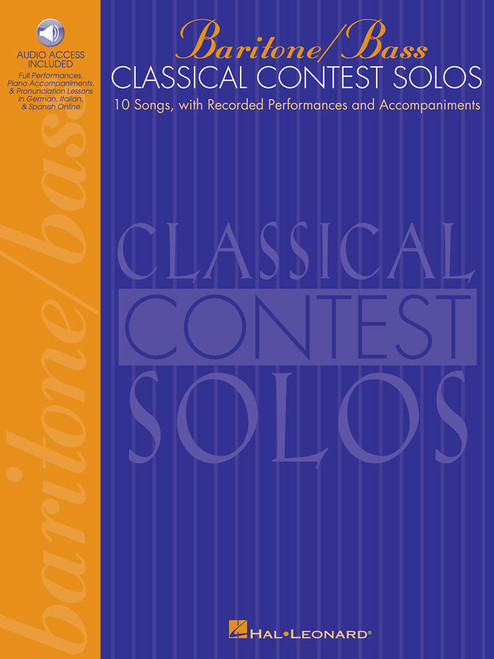 Classical Contest Solos for Baritone / Bass (10 Songs with Recorded Performances and Accompaniments) - Book / Online Audio Access