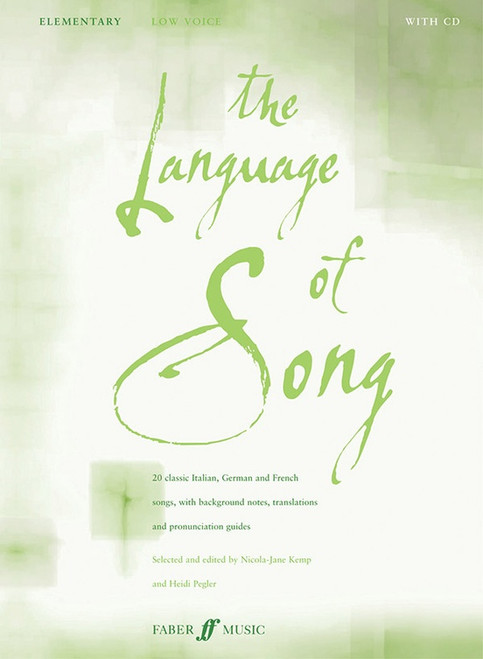 The Language of Song - Elementary for Low Voice