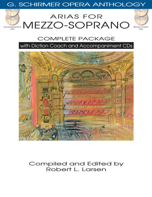 Arias for Mezzo-Soprano (G. Schirmer Opera Anthology) COMPLETE PACKAGE with Diction Coach and REcorded Piano Accompaniments (Online Audio)