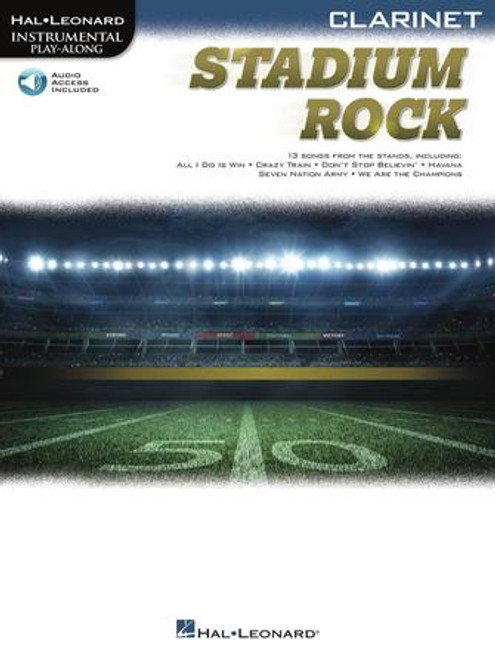 Stadium Rock (13 Songs from the Stands) for Clarinet- Songbook with Online Accompaniments