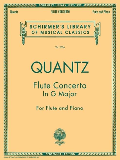 Quantz Flute Concerto in G Major for Flute and Piano (Schirmer Edition)