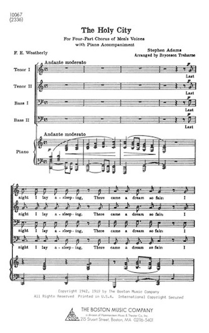 The Holy City - Arr. Sumner Salter - SATB and Piano