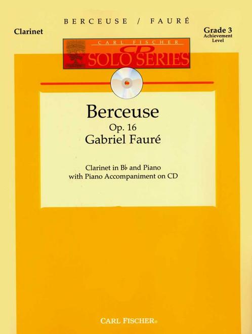 Berceuse - Faure - Clarinet