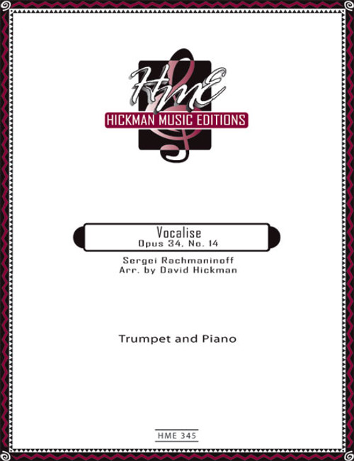 Vocalise Opus 34 No. 14 - Rachmaninoff