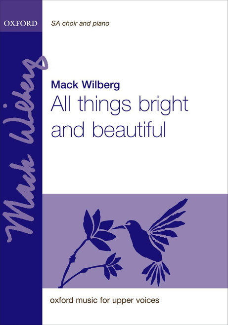 All Things Bright and Beautiful - arr. Mack Wilberg - SA, 4-hands piano, opt. flutes