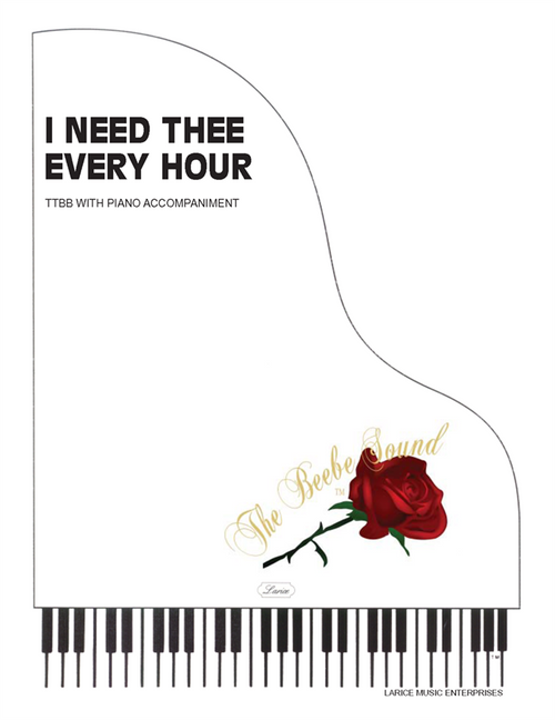 I Need Thee Every Hour (English and Spanish) - arr. Beebe - TTBB and Piano