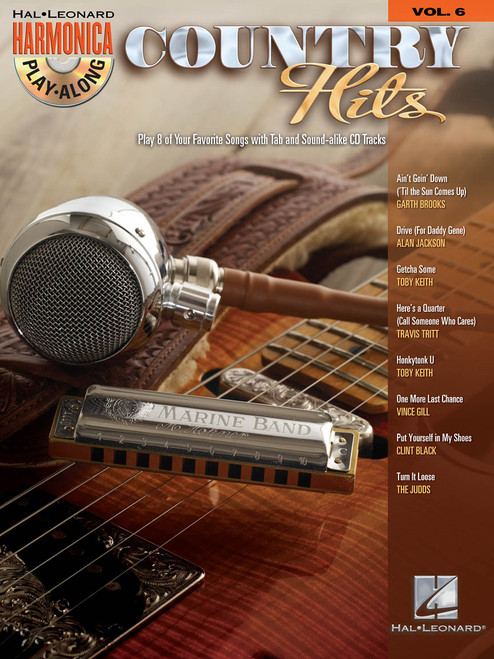 Country Hits - Harmonica Play-Along Volume 6