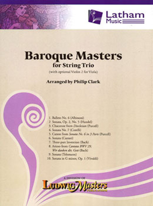Baroque Masters for String Trio (Sold as Set)
