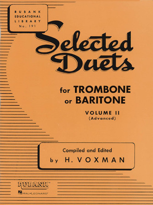 Selected Duets for Trombone or Baritone - Vol. 2